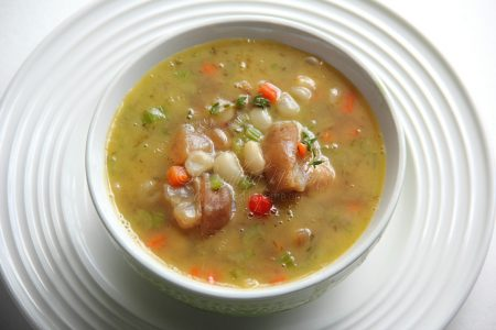Cow-heel Soup made with Lima Beans (Photo by Cynthia Nelson)