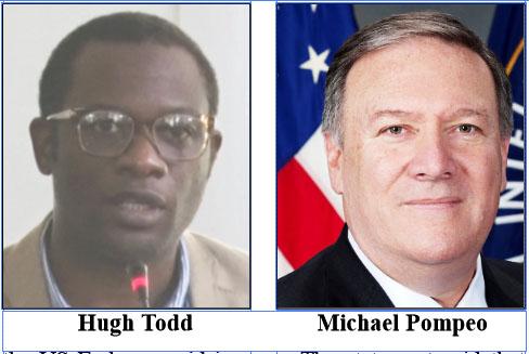 Todd insists Venezuela not on agenda for Pompeo's visit