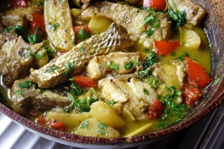 Fish Molee - A mild fish curry made with whole spices (Photo by Cynthia Nelson)