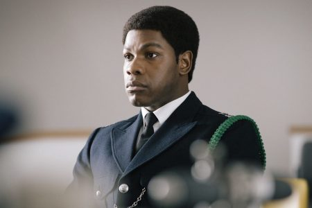 """John Boyega in """"Red, White and Blue"""" (Image courtesy of Will Robson-Scott/BBC/McQueen Limited/Amazon Prime Video)"""