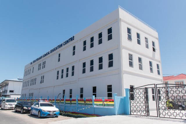 The newly commissioned Dr Yesu Persaud Clinical Education Centre situated in the compound of the Georgetown Public Hospital (GPH) at Thomas and Middle streets, Georgetown. (Department of Public Information photo)