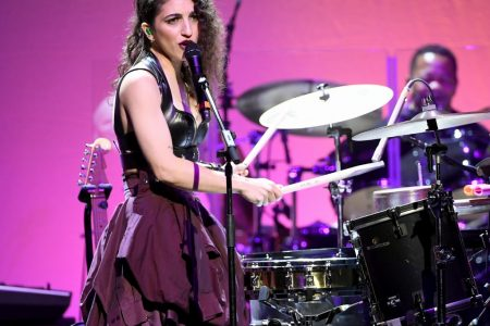 Emily Estefan performs onstage at the Cyndi Lauper And Friends: Home For The Holidays Benefit at The Novo by Microsoft on December 10, 2019 in Los Angeles, California. (AFP/Kevin Winter)