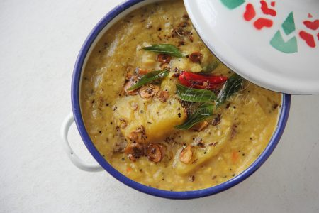 Mango Dhal made with Toor dal (split pigeon peas) (Photo by Cynthia Nelson)