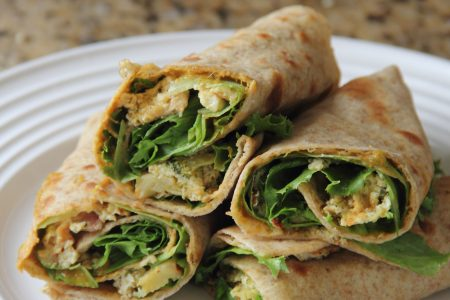 Fry-up of quiche made into wraps (Photo by Cynthia Nelson)