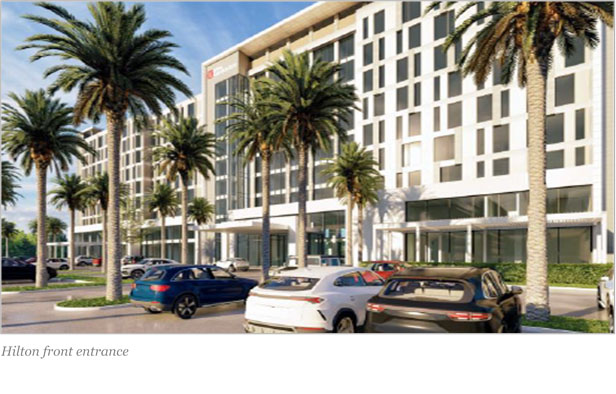 An artist's impression of the Hilton Hotel