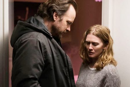 """Peter Sarsgaard and Mireille Enos in """"The Lie"""""""