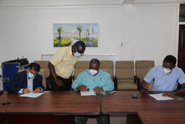 The documents being signed (GEA photo)