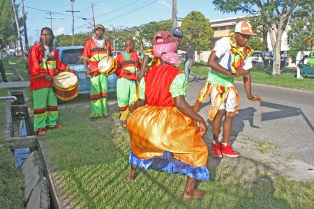 A masquerade band on Camp Street some years ago (SN file photo)