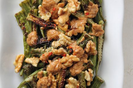 Roast Okra with Peanut Sauce (Photo by Cynthia Nelson)