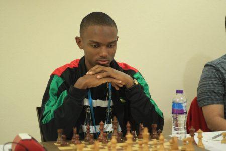 Anthony Drayton, the 2019 national chess champion of Guyana