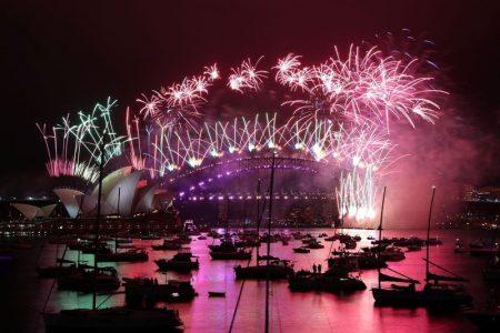 New Year's celebrations in Sydney (Loren Elliott/Reuters)