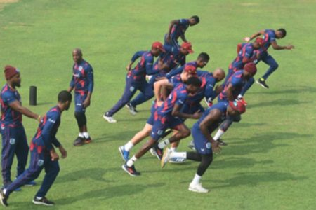 The West Indies trained on Friday ahead of next week's start of the ODI series.
