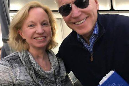 US Ambassador Sarah-Ann Lynch and US President Joe Biden