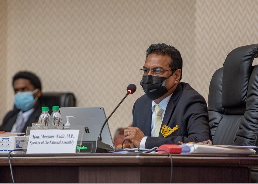Speaker Manzoor Nadir (DPI photo)