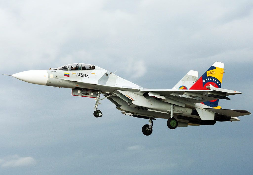 A Russian-made Venezuelan air force Sukhoi fighter jet. (en.mercopress.com)
