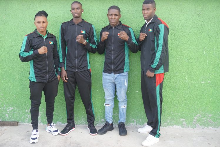 The Olympic futures of Guyana elite quartet of Keevin Allicock, Colin Lewis, Desmond Amsterdam and Dennis Thomas and others around the Region could be in jeopardy after a ranking system will be employed to decide which pugilists compete at the Olympic Games in Tokyo, Japan this summer following the cancellation of the Americas Olympic Boxing Qualifiers. (Emmerson Campbell photo)