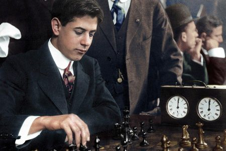 "Cuba's Jose Raul Capablanca, who from 1914 to 1924 played 126 tournaments and match games and lost only 4. The New York Times commemorated Capablanca's loss in this headline: ""Capablanca loses 1st game since 1914"". He contested 578 official tournament games in his career and lost only 36 of them. (Photo: Chessbase)"