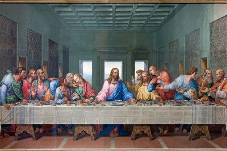 """A print of Da Vinci's """"Last Supper"""""""