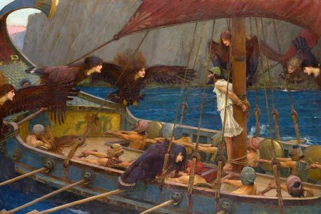 Ulysses and the Sirens by John William Waterhouse, 1891 (Google Arts & Culture)