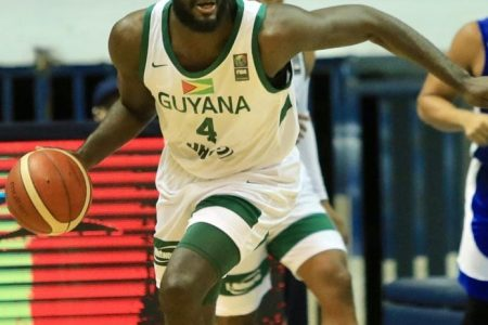 Delroy James scored 18 points and had five assists but Guyana's male basketball team lost to Jamaica last night in the FIBA 2023 World Cup Qualifiers in El Salvador.