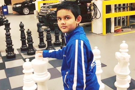 Abhimanyu Mishra, 12, is on his way to becoming a chess grandmaster. He has completed two norms in the compact qualification process and has one to go. The record for the youngest grandmaster ever is held by Russia's Sergey Karjakin who qualified for the accolade at 12 years, 7 months. (Photo: Sagar Shah / Chessbase)