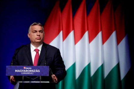 FILE PHOTO: Hungarian Prime Minister Viktor Orban addresses a business conference in Budapest, Hungary, June 9, 2021. REUTERS/Bernadett Szabo/File Photo/File Photo