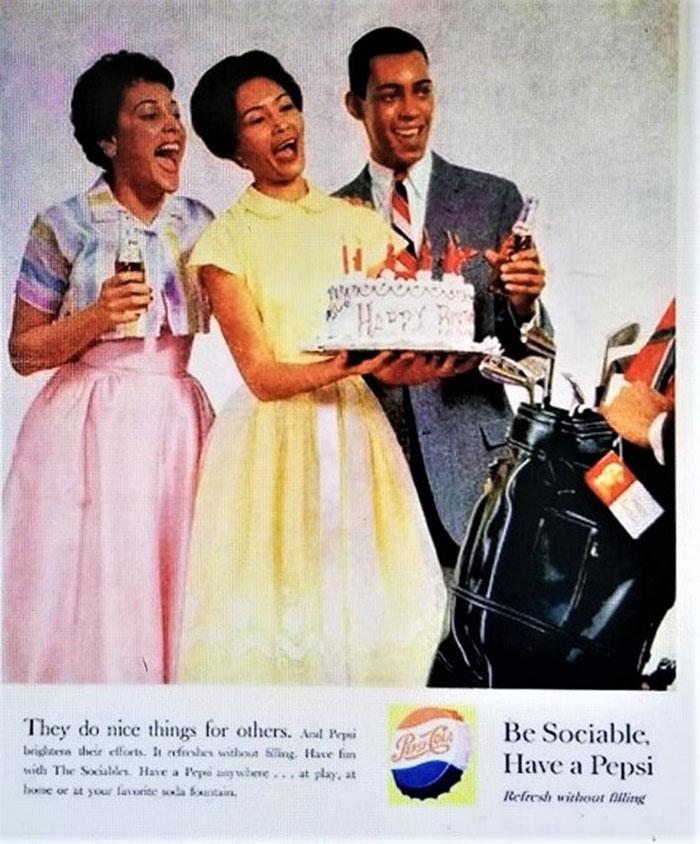 Pepsi-Cola advertisement ca 1950s (Image accessed online)