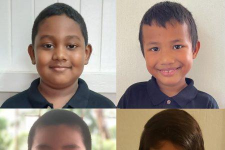 From top left (clockwise) are Aquilani Swaminadha, Julian Mohabir, Jacob Frank McDonald and Nicholas Zhang (Photos courtesy of John Lee)