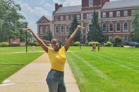 Moriah on campus at Howard University