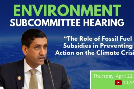 Ro Khanna, chairman of the Subcommittee on Environment